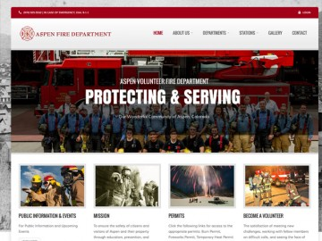 Aspen Fire Department Web Site Design