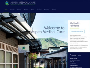 Aspen Medical Site Design