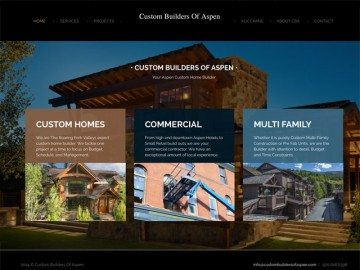 Custom Builders Web Site Design