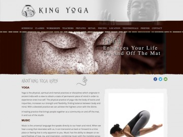 King Yoga Web Site Design