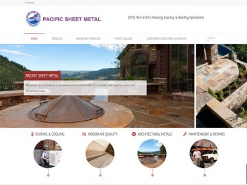 Pacific Sheet Metal Web Site Design
